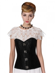Wholesale Strong Black Outwear Women Overbust Croset Bustier