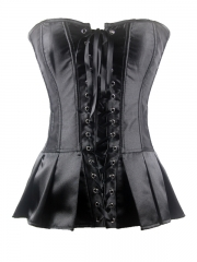 Wholesale Black Elegant Satin Overbust Ladies Corset