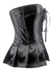 Wholesale Black Elegant Satin Overbust Ladies Corset