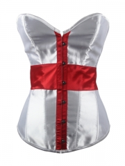 Fashion Personality Cross High Quality Overbust Corset
