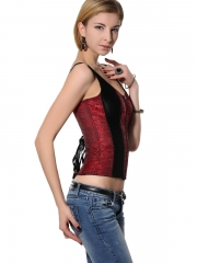 Strap Ladies Overbust Corset With High Quality Zipper