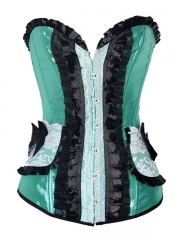 Green Enegant Ladies Overbust Corset Tops Wholesale