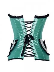 Green Enegant Ladies Overbust Corset Tops Wholesale