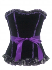 Elegant Purple Flannel Women Corset For Wholesale