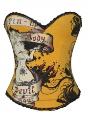 Yellow Pin-up Corset Wholesale With Cheap prices