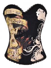 Pin-up Black Corset Top Customize Ladies Corset