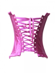 Graceful Purple Satin Top Corset Bustier Wholesale
