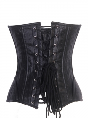 Skull Black Steel Boned Leather Corset Wholesale