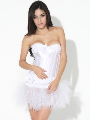 Bridal White Corset With Fashion TuTu