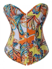 Colorful Paisley Women Corset Tops Wholesale