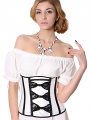 Satin & Lace Underbust Corset For Wholesale