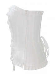 Elegant Rose Flower White Women Corset