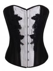 Wholesale Traditional Lace Satin Corset Tops