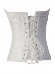 Steel Boned Gothic Percale Jacquard Corset Tops