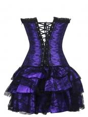 Unique Gothic Lace Women Bustier Corset Dress Wholesale