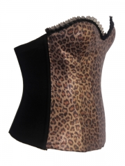 Golden Leopard Overbust Women Corset Tops