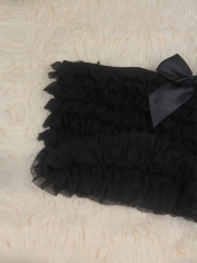 Women Black Bow-knot Lace Corset TUTU Dress
