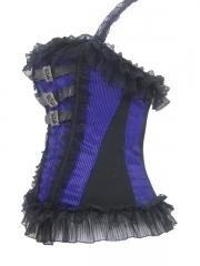 Classical Stripe Shoulder Outwear Lace Corset