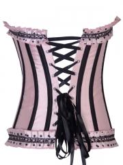 Lovely Victorian Beautiful Pink Satin Women Corset