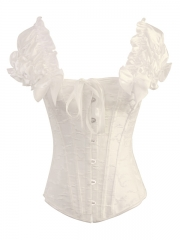 Steel Boned Elegant White bridal corsets bustiers