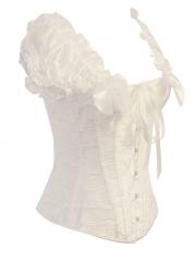 Steel Boned Elegant White bridal corsets bustiers