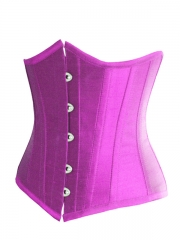 Plus Size Purple Underbust Corset Satin Waist training