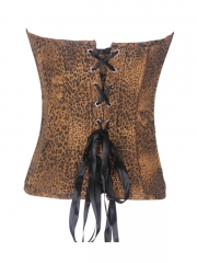 Gorgeous Leopard Denim Corset Tops For Women