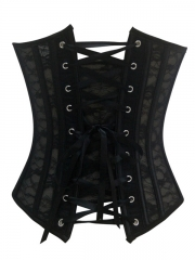Black Elegant Women Bridal Corset Tops Lace Bustier For Sale