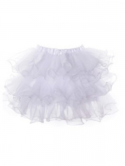 Pure White TUTU Tulle Skirt For Women