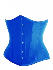 Fashion Blue Waist Cincher Satin Training Corset Bustier