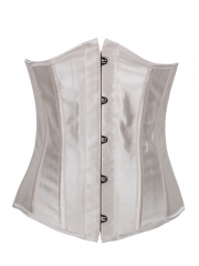 Strong Steel Boned Satin Bustier Underbust Corset For Women