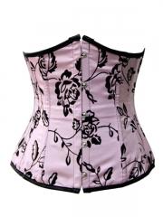Pink Underbust Satin Waist Cincher Corset Bustier Wholesale