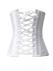 Plus Size Satin White Waist Training Bridal Corset Wholesale