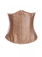 Golden Satin Underbust Coset Waist Trainer For Women