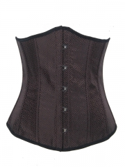 Vogue Brown Satin Bustier Cheap Waist Training Corset