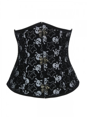 Black Waist Training Women Steampunk Underbust Corset