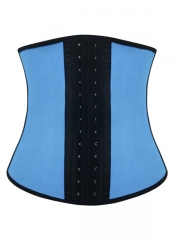 Pink / Blue Latex Steel Bone Corset Wholesale Waist Trainers