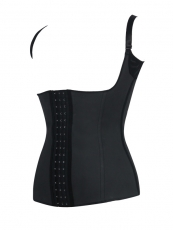 Black Latex Waist Shapers With Shoulder Strap Wholesale