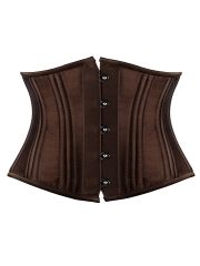 Stylish Satin Bustier Double Strong Steel Boned Corset