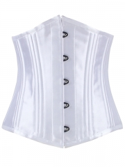 Satin Double Steel Boned Waist Training Underbust Corset