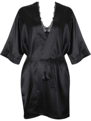Black Lace BabyDolls Lingerie Hot Women Silk Night Robes