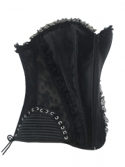Elegant Black Lace Trim Bustier Cheap Corset Tops Wholesale