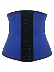 Blue Three Layers Fabric Waist Training Corset Latex Shaper