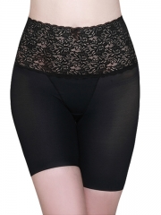 Black Lace Tummy Control High Waist Body Shaper For Women