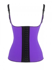 Halter Latex Waist Training Cincher Steel Bones Corset Vest