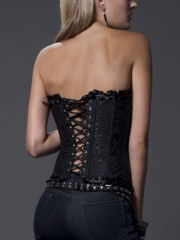 Elegant Zipper Overbust Plus Size Bustier For Wholesale