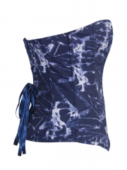 Popular Tie-dyed Denim Fashion Blue Women Corset