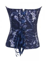 Popular Tie-dyed Denim Fashion Blue Women Corset