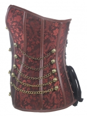 Fashion Deep Brown Steel Bone OverBust Steampunk Corset Top