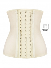 New Smooth Latex 9 Steel Boned Waist Cincher Training Corset